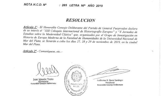 Declaración Interés Concejo Deliberante MGP
