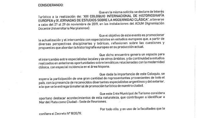 Declaración Interés Turístico MGP